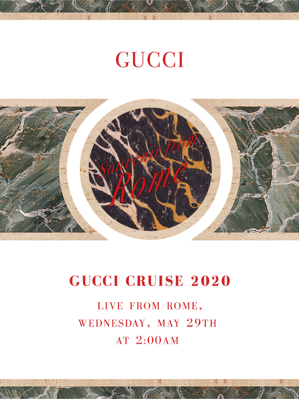 Watch the Gucci Cruise 2020 Fashion Show live from Rome
