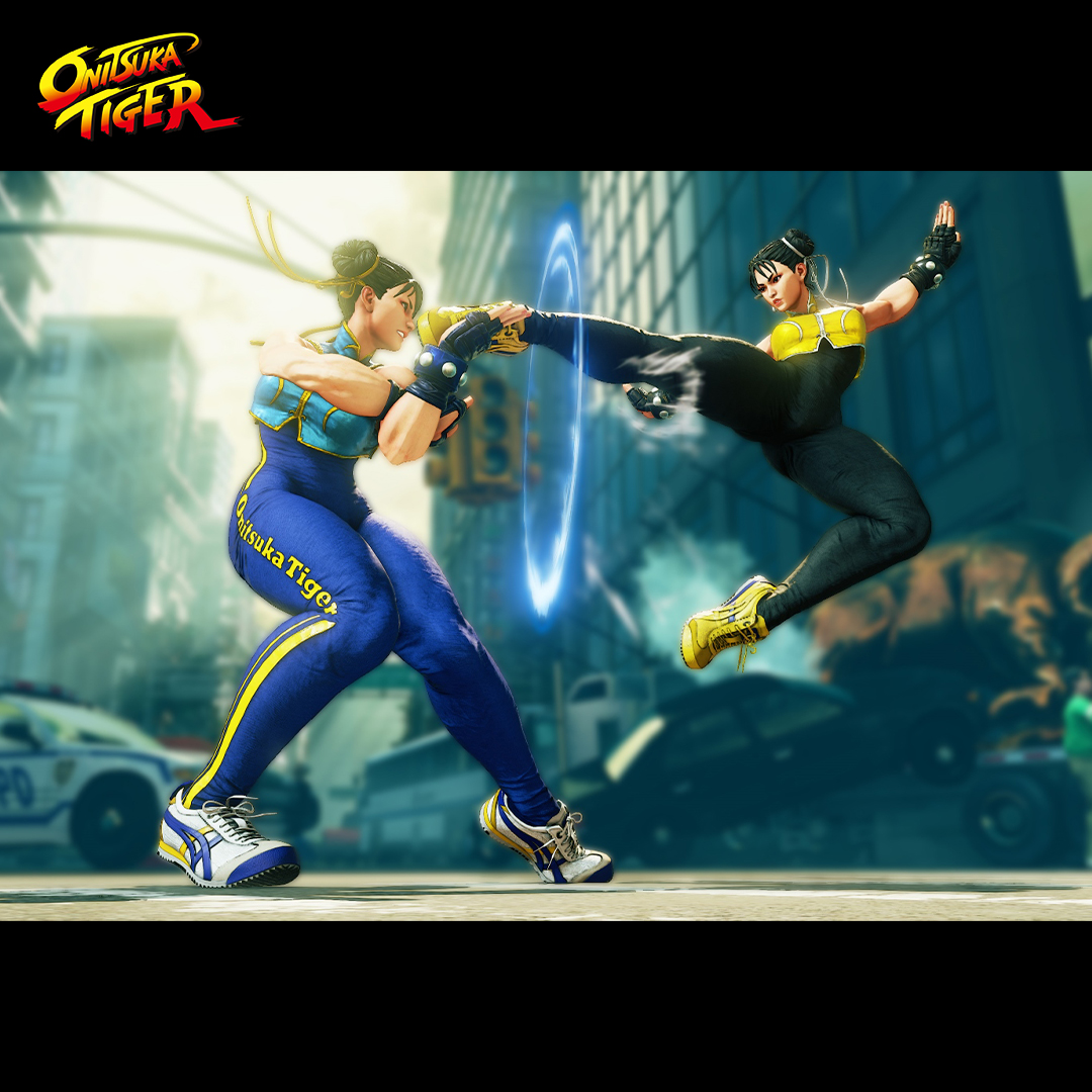 Level up your style and gaming skills with the Onitsuka Tiger X Street Fighter sneakers