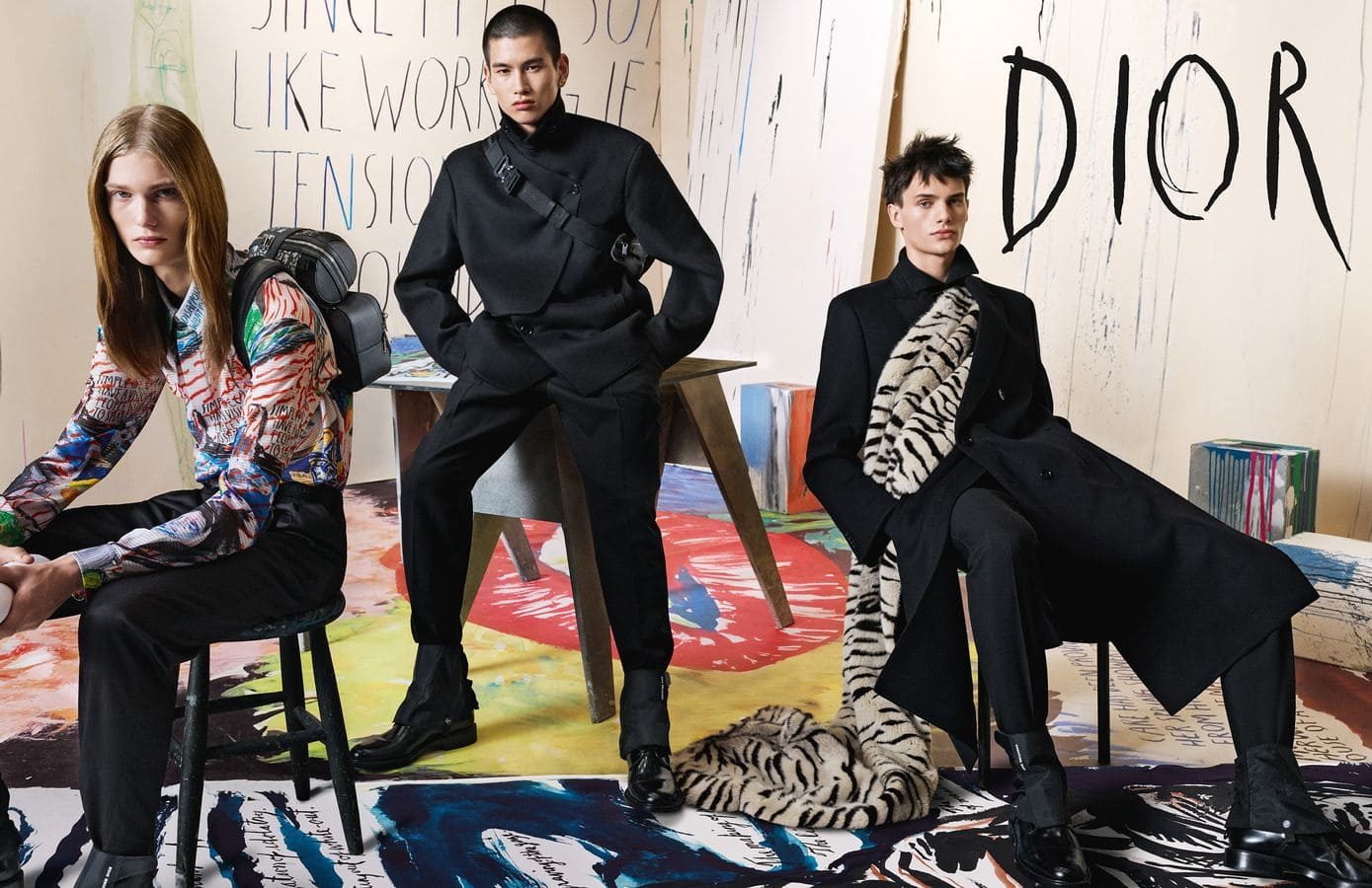 Dior Homme's latest campaign pays homage to Raymond Pettibon's oeuvre