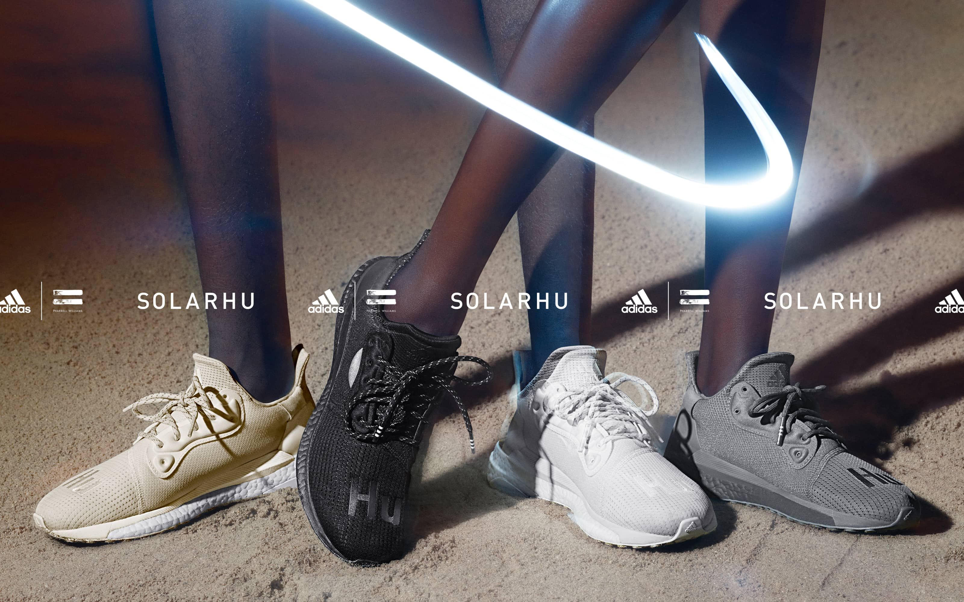 Adidas and Pharrell Williams launch the new SolarHu Greyscale sneaker collection
