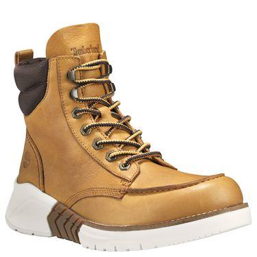 Timberland's M.T.C.R. Moc Toe Boot: Spruce Yellow/Wheat Full-Grain