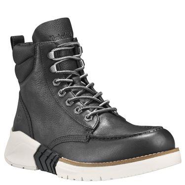 Timberland's M.T.C.R. Moc Toe Boot: Jet Black/Black Full-Grain