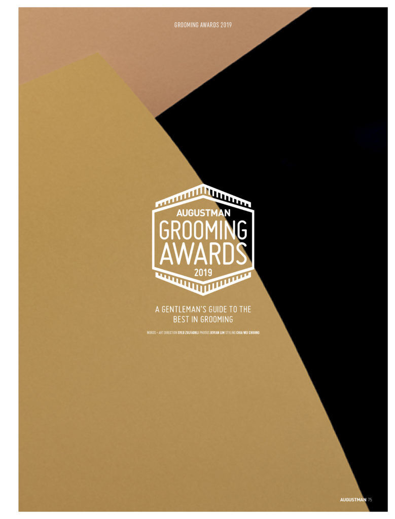 AUGUSTMAN Grooming Awards 2019. Designed by: Jasmine Huang