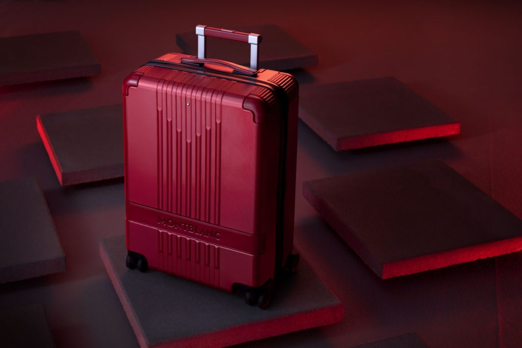 The exterior of (Montblanc M) RED travel luggage