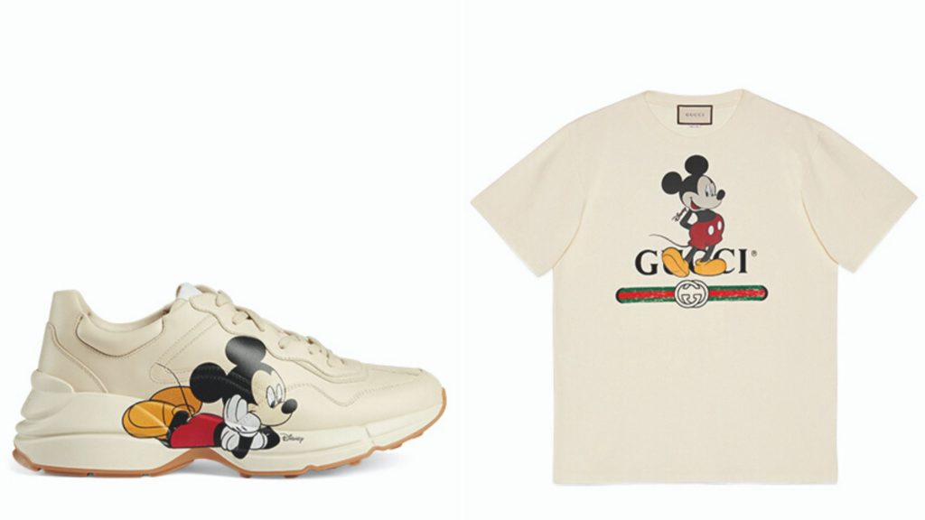 gucci mickey mouse sneakers t-shirt
