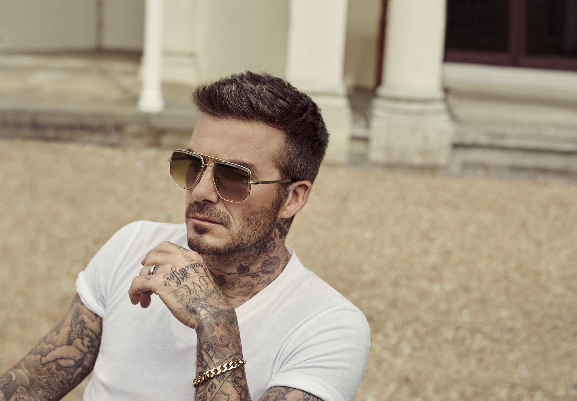 David Beckham unveils his new DB shades collection