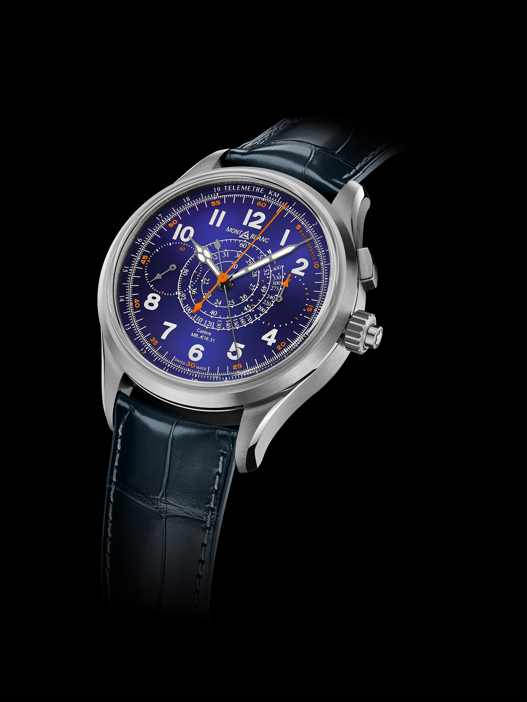 The Montblanc 1858 Split Second Chronograph has all the right touches