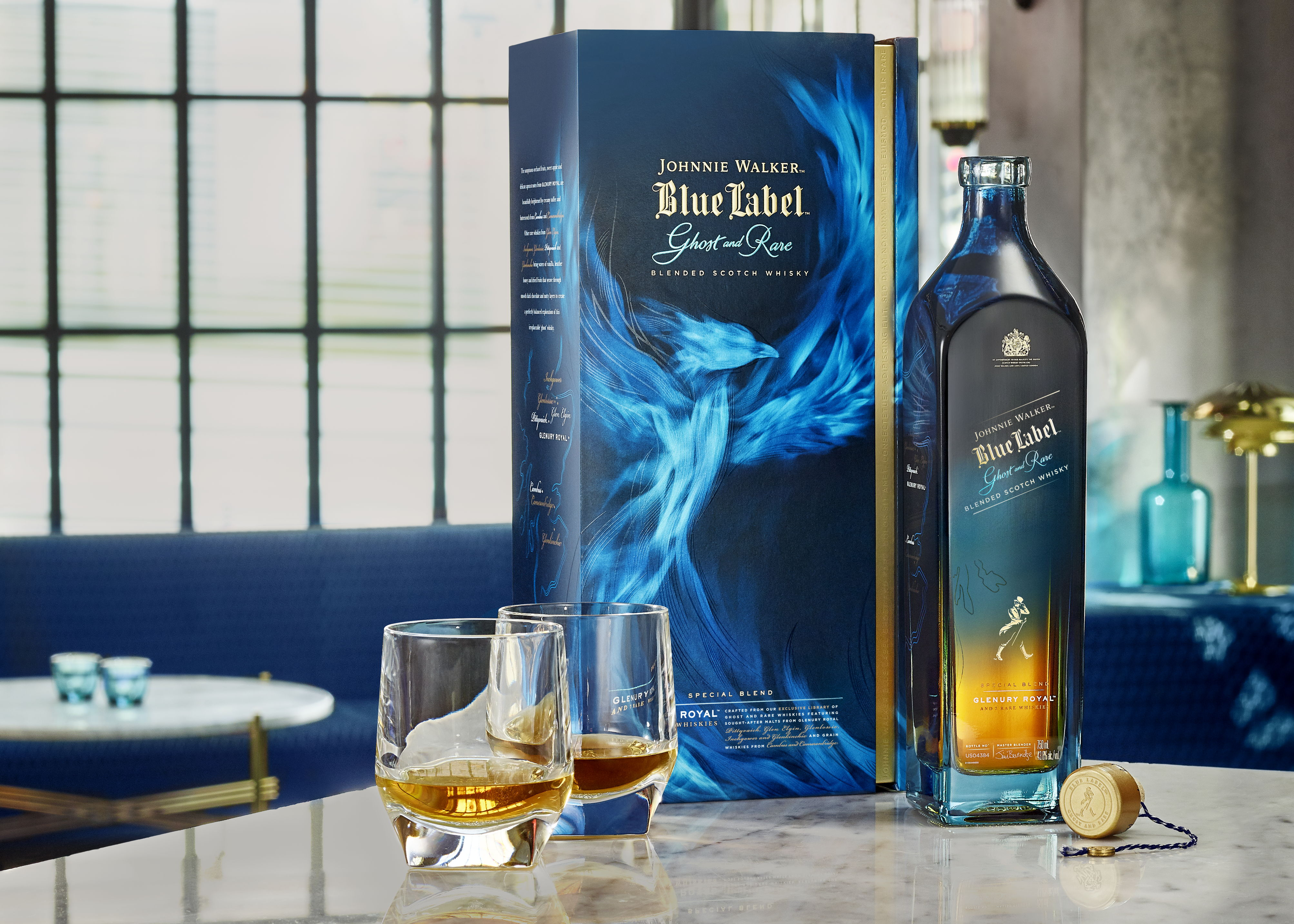 The Royal Highness: Johnnie Walker Blue Label Ghost and Rare Glenury Royal