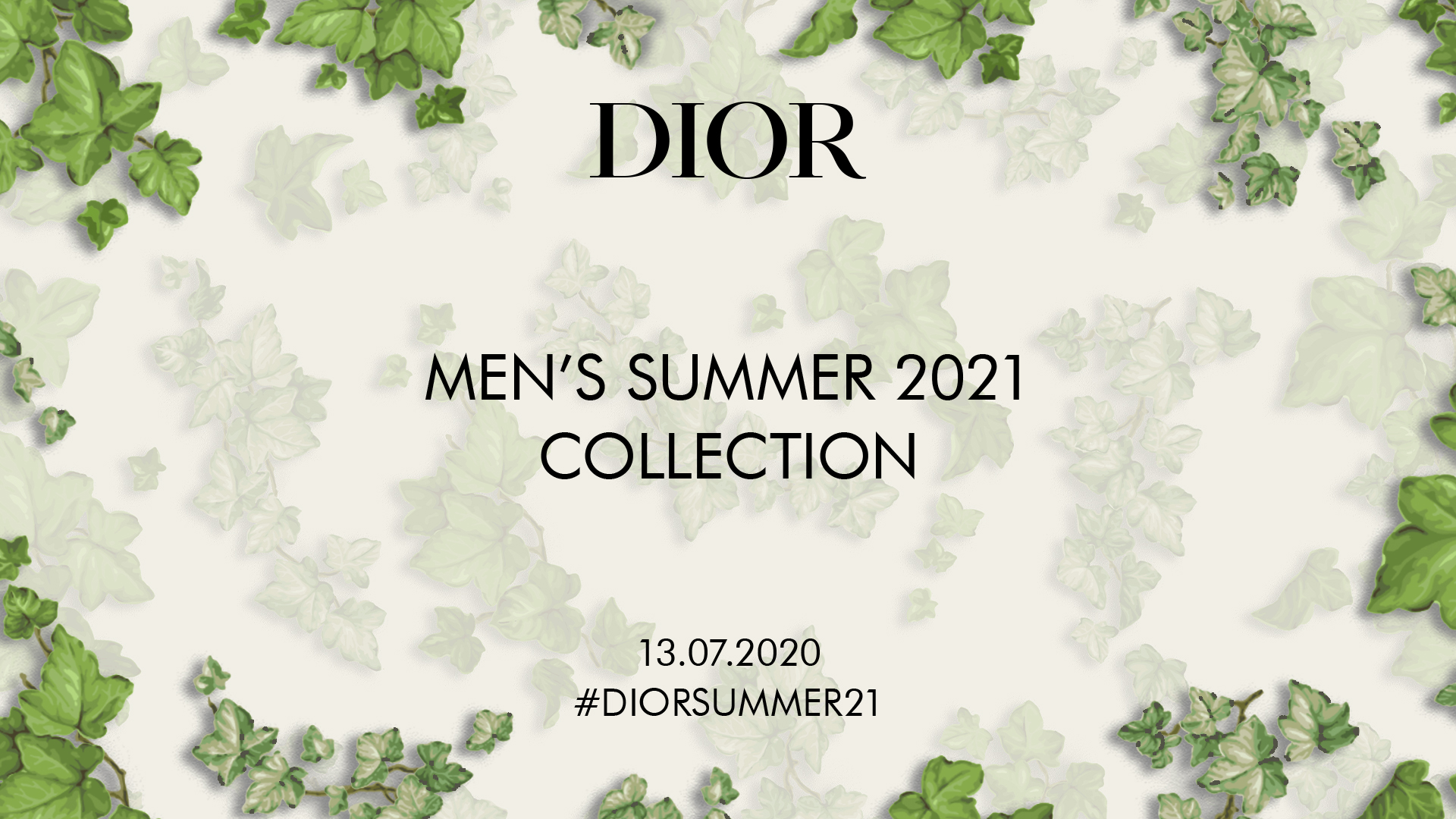 Watch The Dior Men's Summer 2021 Collection Live