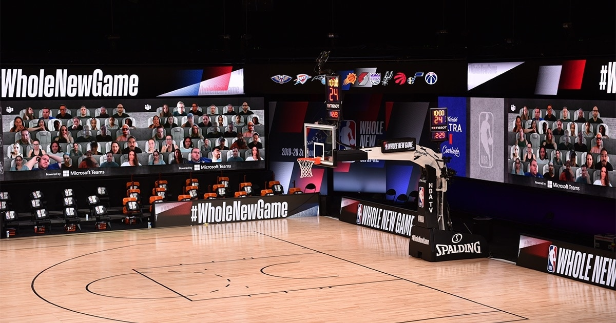 NBA Partners With Microsoft Teams For Audience-Free Basketball Games