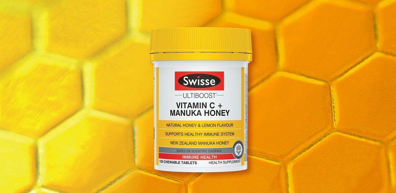 Chew on it: Swisse's Ultiboost Vitamin C + Manuka Honey