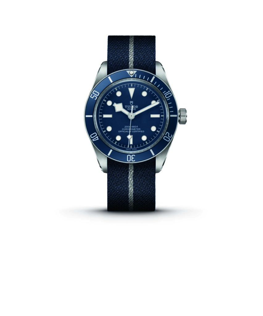 Tudor Black Bay Fifty- Eight Navy Blue in steel case and blue fabric strap