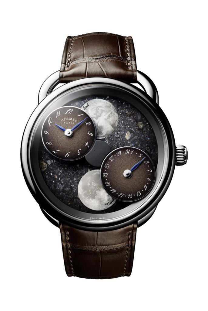 Arceau L'heure de la lune watch in lunar meteorite