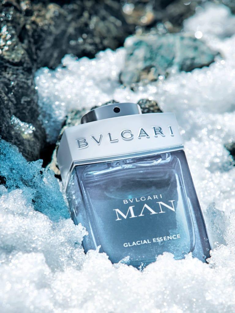 Bvlgari Man Glacial Essence featuring Nick Bateman. Photo: Bvlgari Parfums