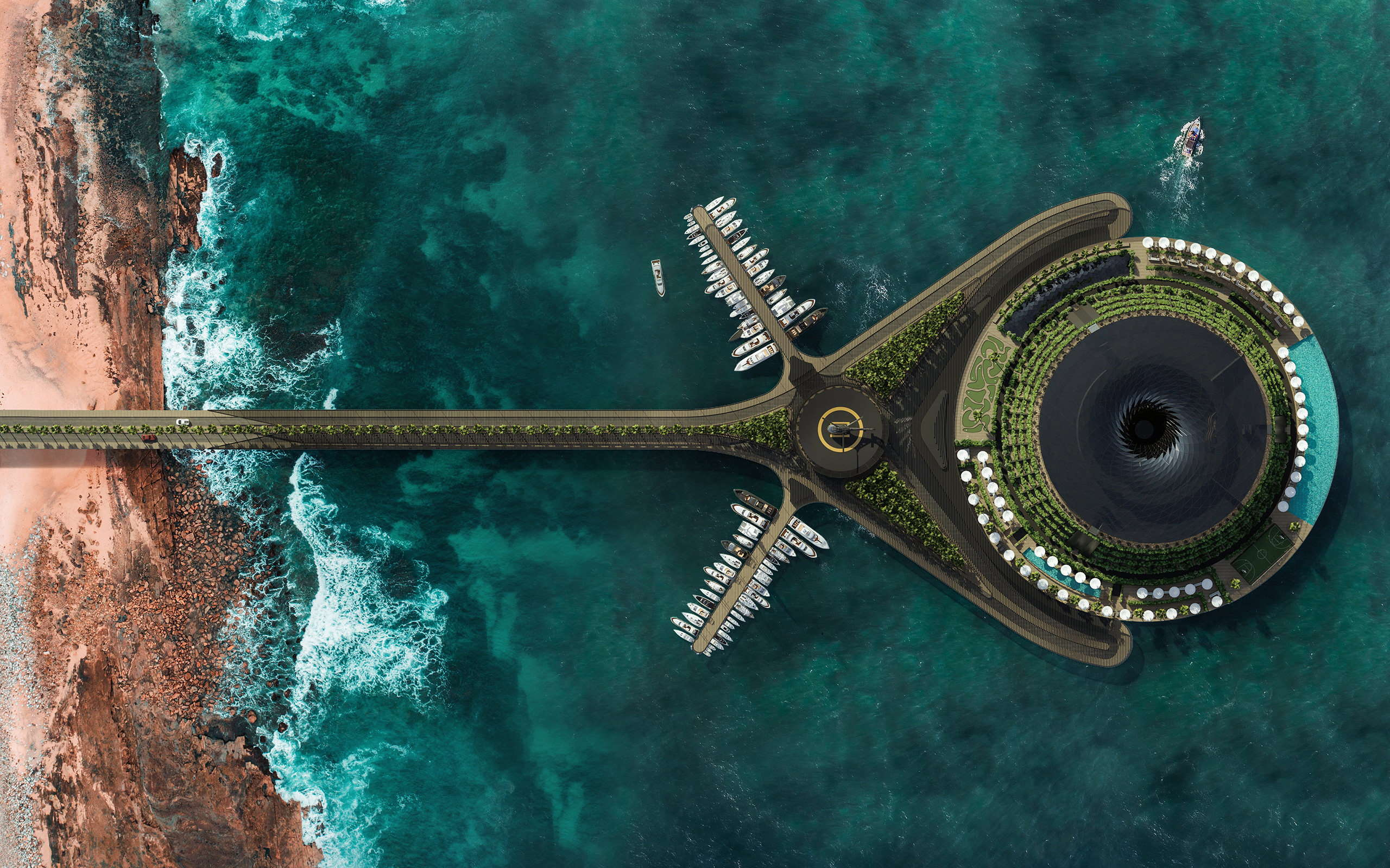 Qatar's Floating Eco-Hotel Concept Is Designed To Generate Its Own Electricity