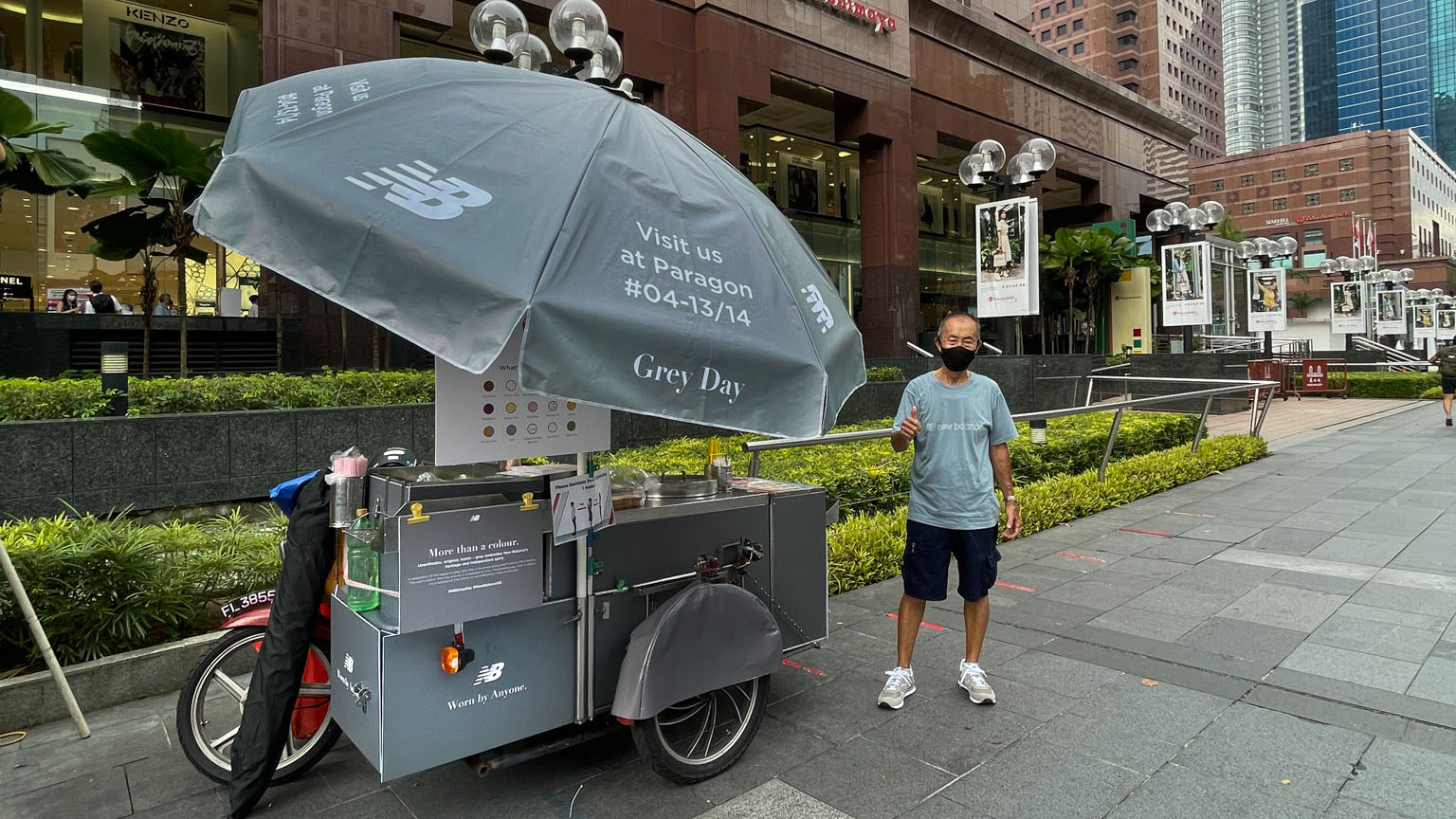 New Balance Revamps Ice Cream Uncle's Cart For Grey Day 2021