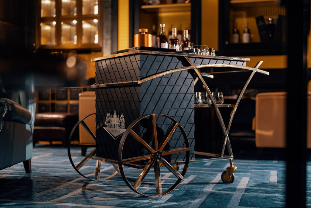 the macallan bar cart
