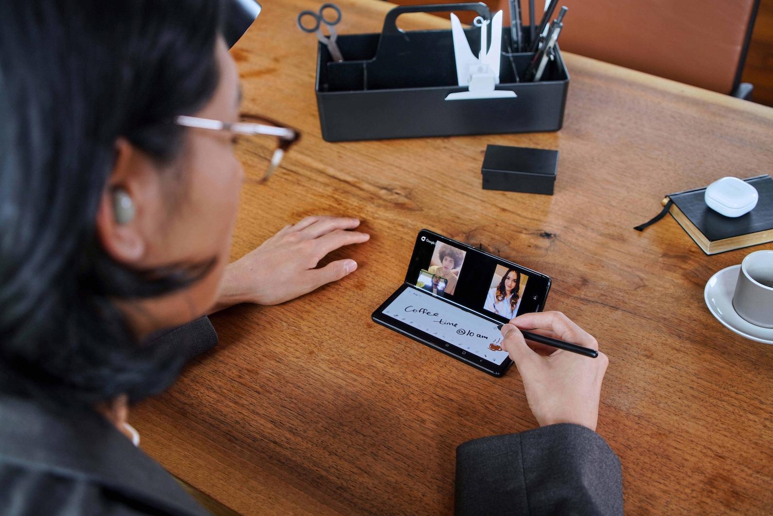 Samsung Galaxy Z Fold 3 with under-display camera