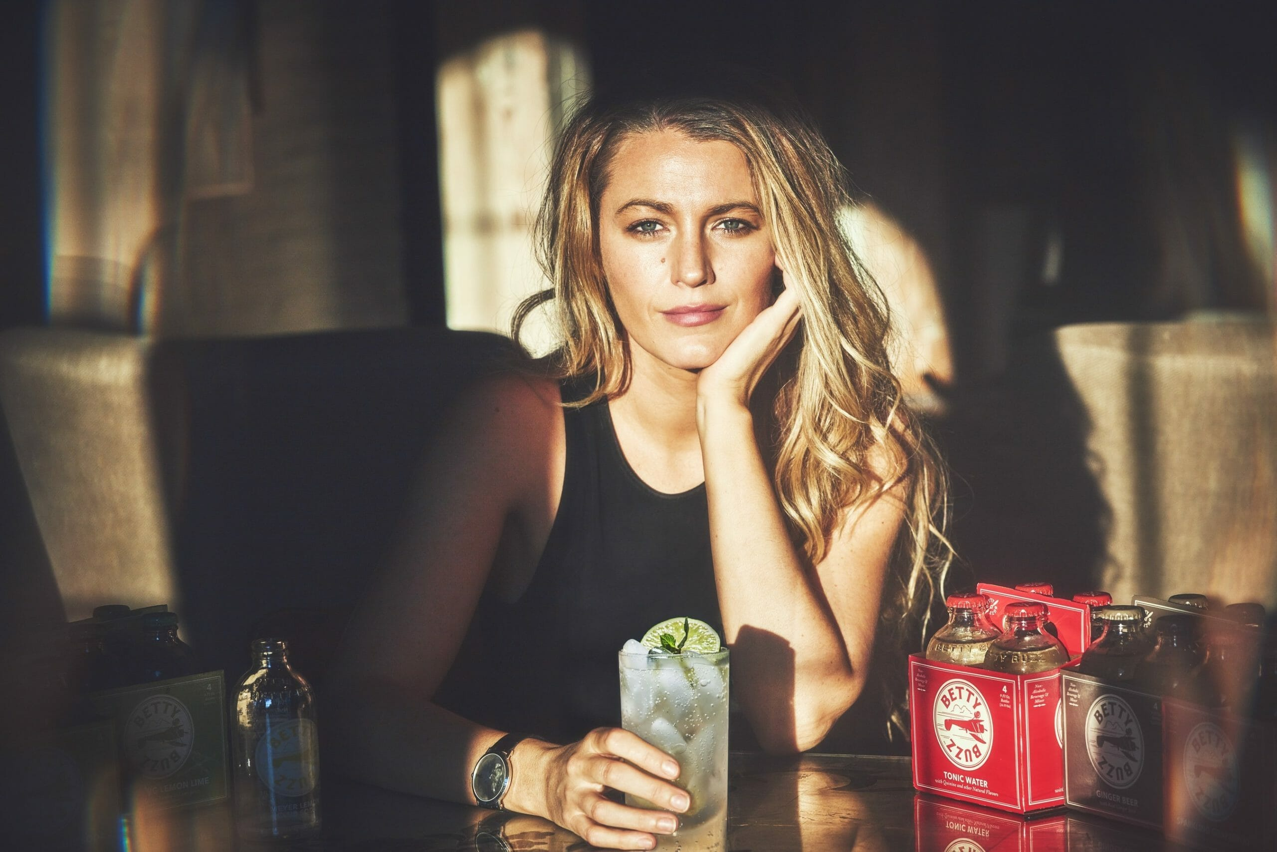 Blake Lively Creates A Buzz With Her New Sparkling Mixers