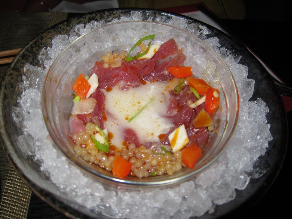Shaved Tuna and Chilli Tapioca with Asian Pear, Coconut and Lime Dressing - Food Pairings With Chivas Regal 12 Year Old