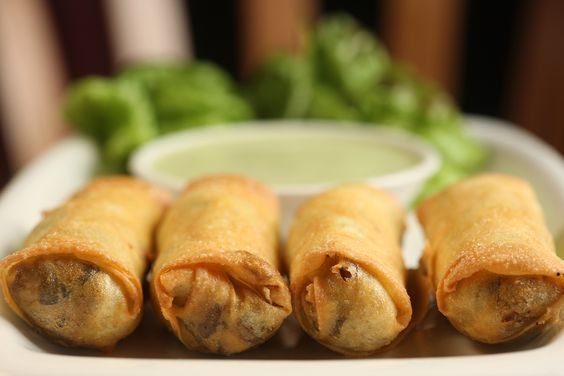 Fragrant Mushroom Egg Rolls with Galangal Emulsion - Food Pairings With Chivas Regal 12 Year Old