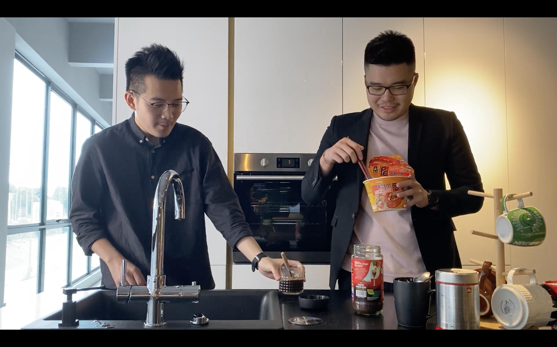 preparing instant noodles using intrix