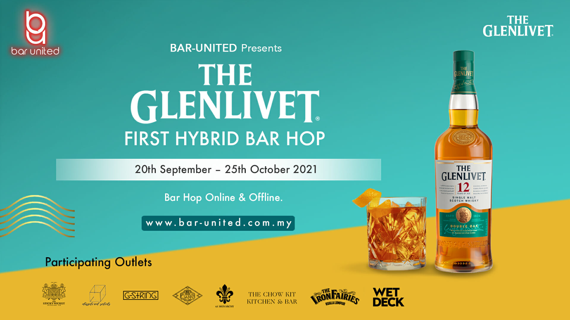 Sit Back, Relax And Enjoy The Glenlivet At Home With Bar-United