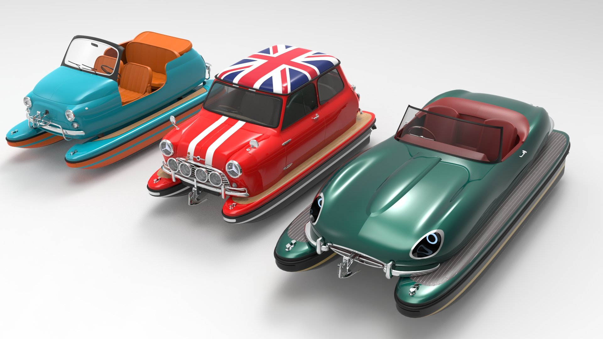 Legendary Cars Reinvented In Floating Form